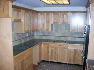Stone & Brick Kitchens, Tile & Bamboo Floor